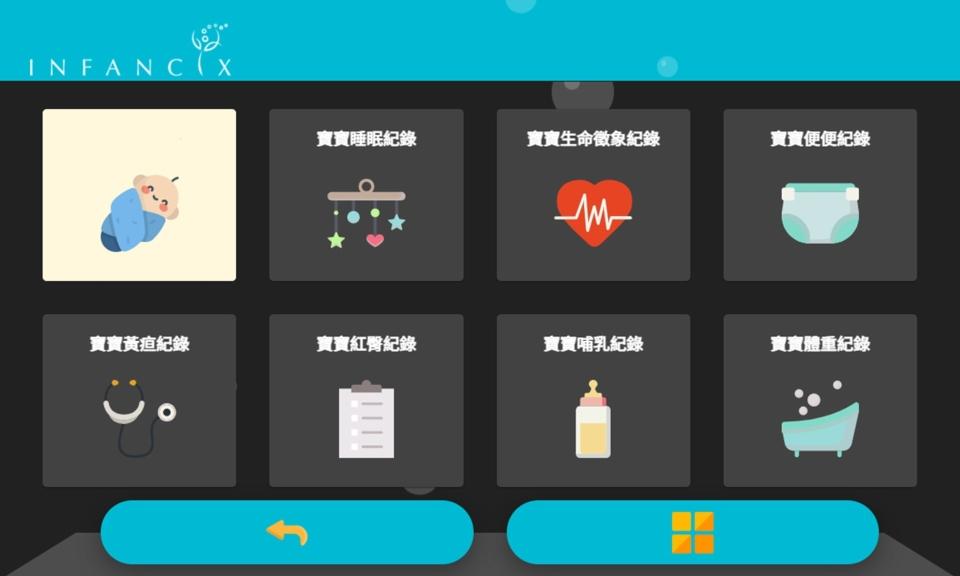 孕學林以知識科技坐月子為初衷,利用寶寶配戴的穿戴裝置,透過APP讓新手媽媽一目了然寶寶的生理數值。孕學林/提供。