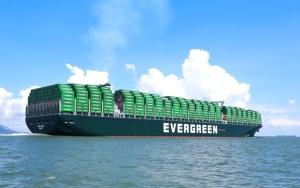 長榮表示,雖然塞港問題終會解決,但若以目前狀況來看,缺櫃的狀態會持續到第3季。圖為長榮海運大型貨櫃輪。圖檔來源:聯合報系資料照