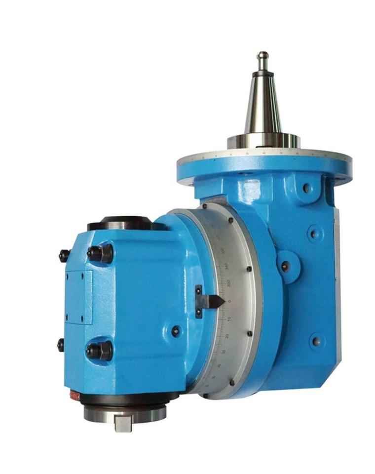 H60-A軸曲齒定位萬象銑頭,為設備提供全面絕佳的製程精度。 凱程功陽/提供