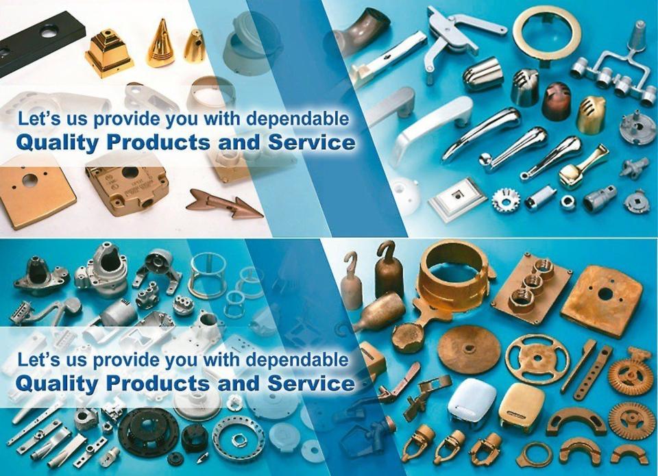 裕洲金屬鋁、鋅、銅等合金零件的壓鑄及模具製品。    裕洲金屬/提供