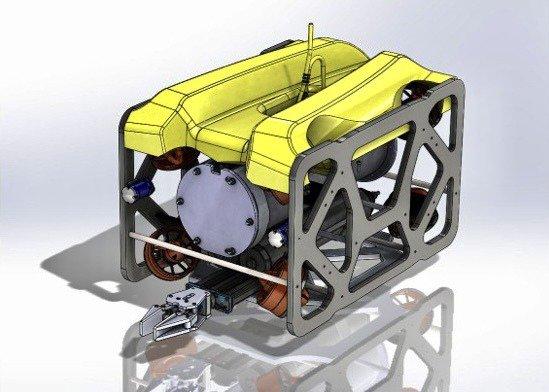雷虎科技新一代中大型水下無人載具海龍一號 (Seadragon ONE)規劃設計圖。圖/雷虎科技提供