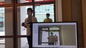 工研院新一代「熱影像體溫異常偵測技術」創新整合彩色攝影機與熱影像感測器,可即時儲存發燒人員彩色影像紀錄,以便後續疫調需求。圖/工研院提供