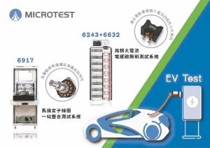 電動車零組件及充電樁高頻大電流檢測儀器。益和/提供