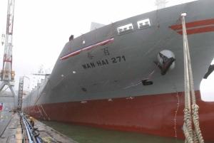 萬海航運昨宣布斥資逾150億元再造新輪。圖為十年前萬海建造的百春輪。圖檔來源:聯合報系資料照