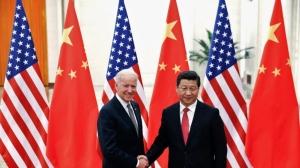 美國總統拜登上任半年來,還沒和習近平親自會面過。圖為拜登在2013年擔任副總統時,與習近平在北京會面的資料照。圖/路透