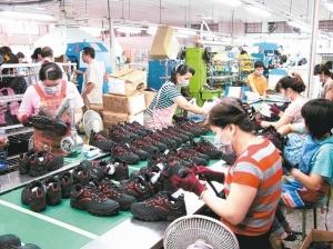 圖為某製鞋廠。圖檔來源:聯合報系資料照