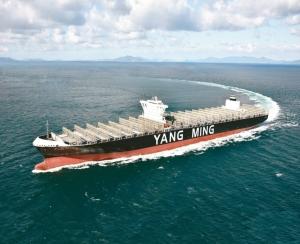 圖為陽明海運貨櫃輪。圖檔來源:聯合報系資料庫