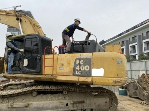 台南市環保局將在疫情緩和後加強推動施工機具自主管理標章。圖/南市環保局提供