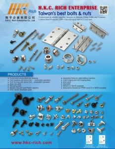 Taiwan's Best Customized Fasteners for auto at H.K.C. Rich</h2>