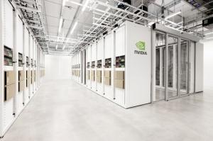 圖為輝達(Nvidia)在英國的「劍橋1號」超級電腦。 路透