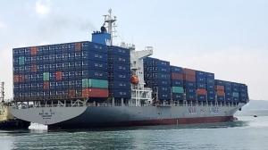 萬海昨日法說,總經理謝福隆表示,塞港情況到2022年上半年仍舊無解。圖檔來源:聯合報系資料照