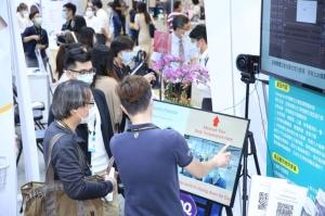 2021年10月14日至16日於南港展覽二館展出的「台灣國際醫療暨健康照護展」,產、官、學界齊聚,展示醫材產業完整生產供應鏈及智慧醫療與新創醫療解決方案。(圖為2020年展覽)(貿協提供)