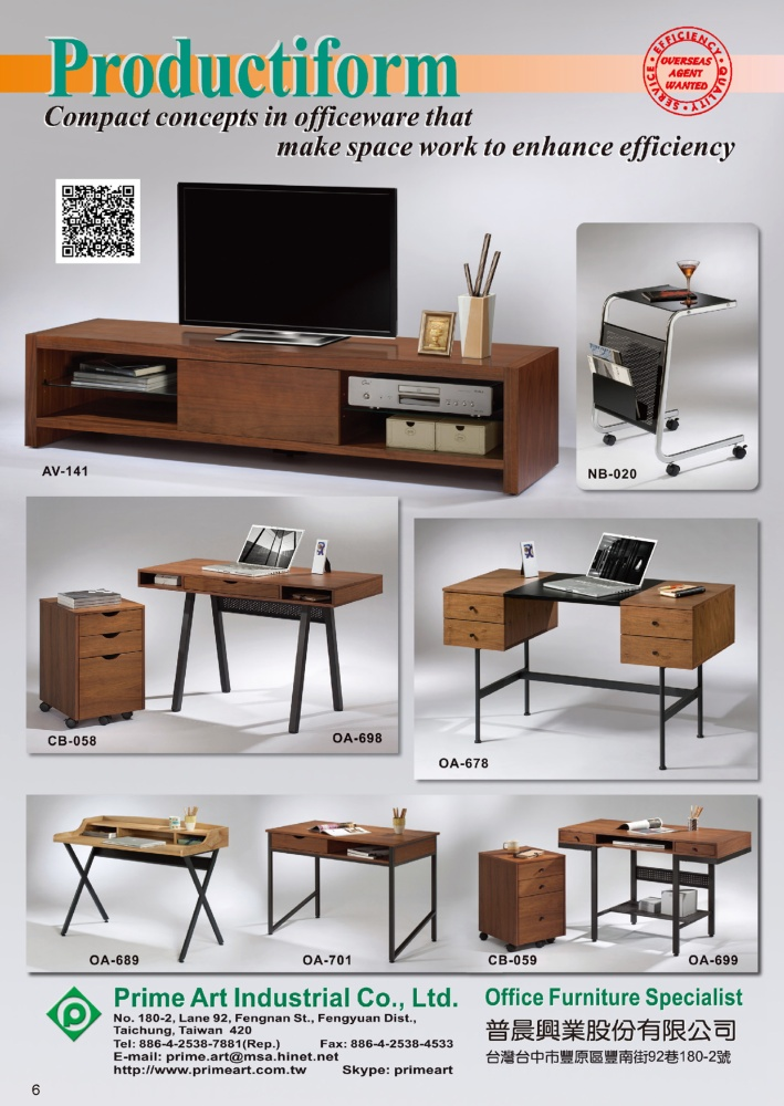 CENS Furniture PRIME ART INDUSTRIAL CO., LTD.