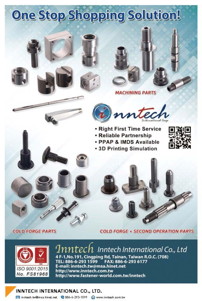 Fasteners E-Magazine INNTECH INTERNATIONAL CO., LTD.