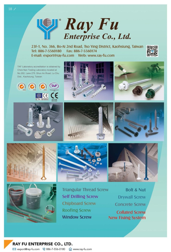 Fasteners E-Magazine RAY FU ENTERPRISE CO., LTD.