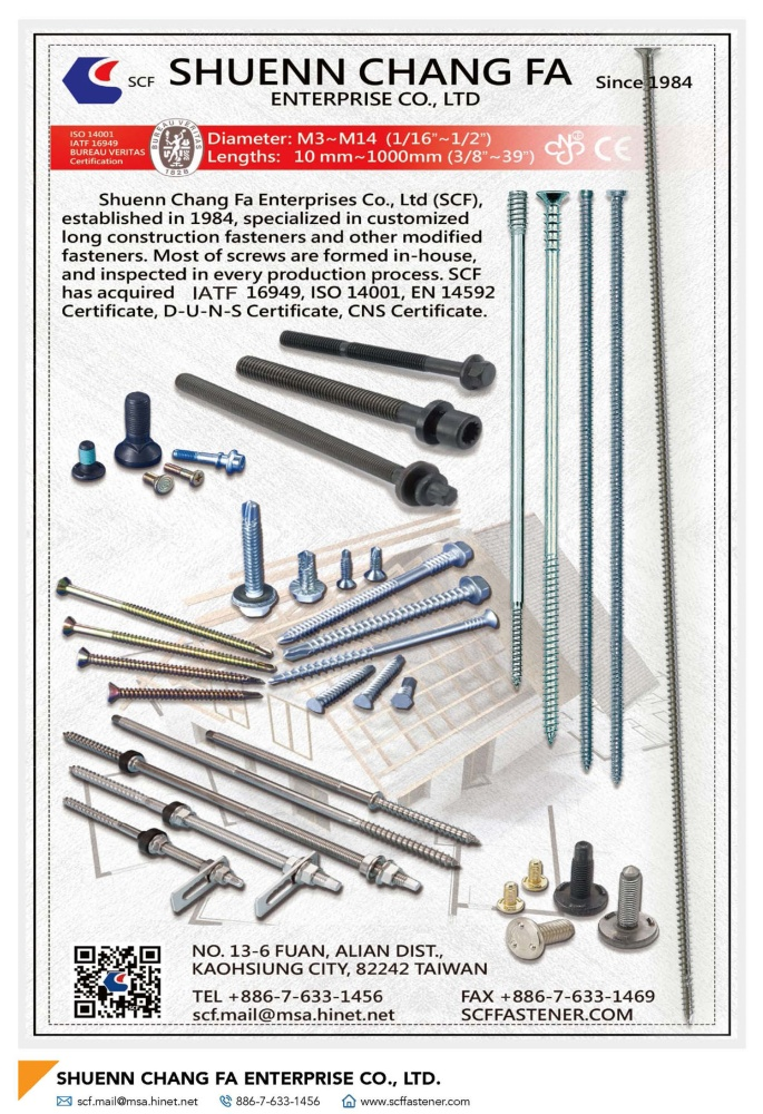 Fasteners E-Magazine SHUENN CHANG FA ENTERPRISE CO., LTD.