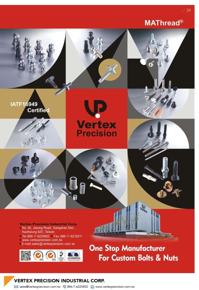 Fasteners E-Magazine VERTEX PRECISION INDUSTRIAL CORP.