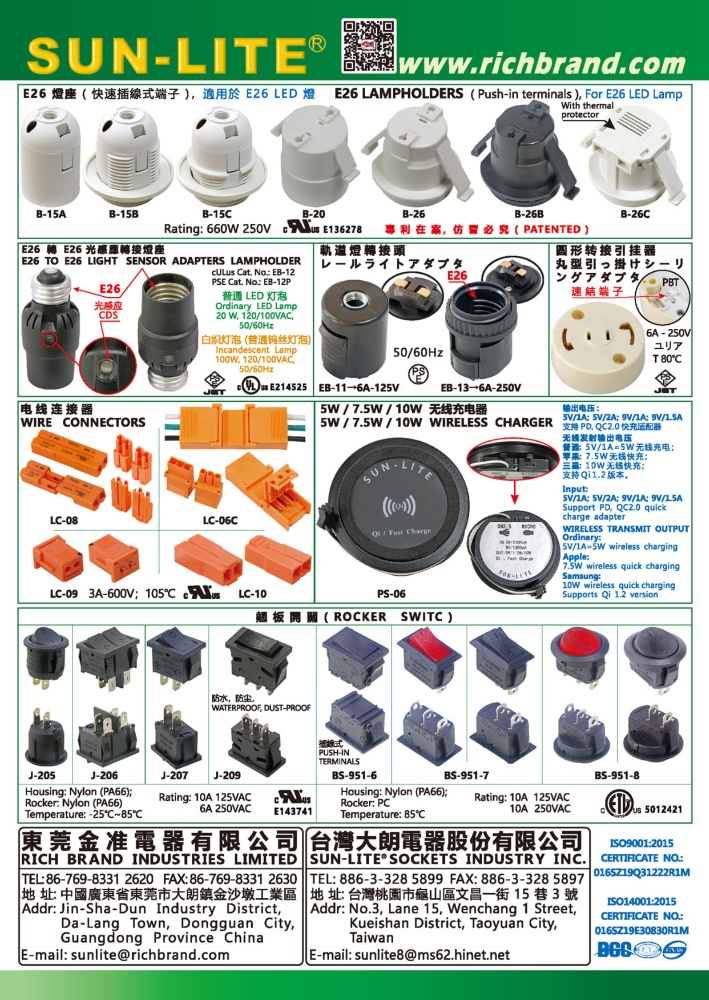 SUN-LITE SOCKETS INDUSTRY INC.