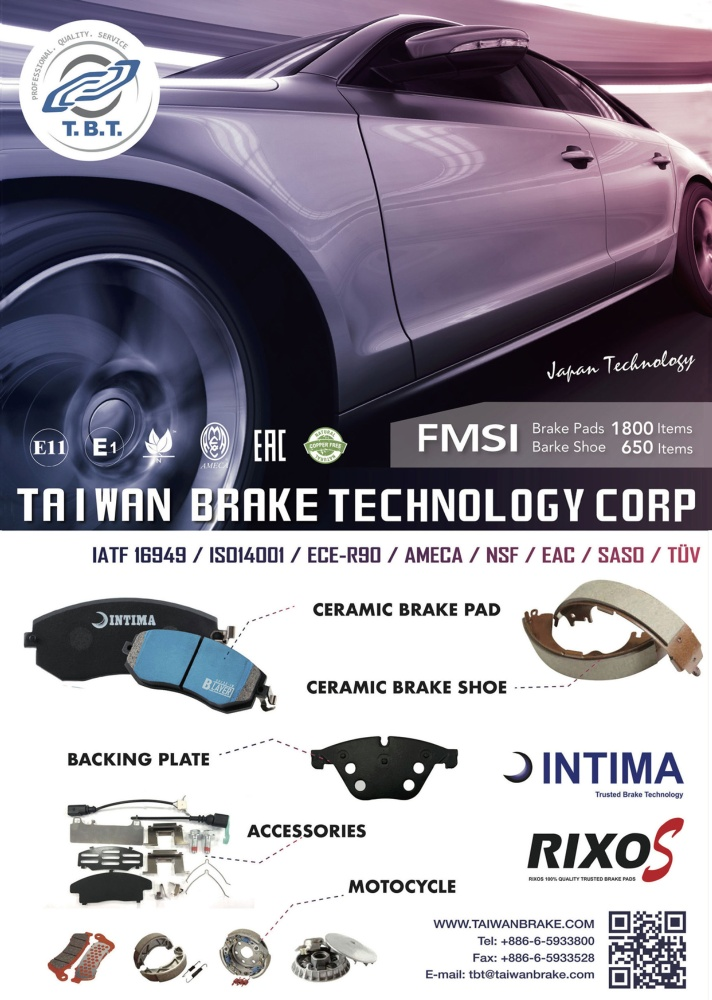 Taipei Int'l Auto Parts & Accessories Show (AMPA) TAIWAN BRAKE TECHNOLOGY CORP.