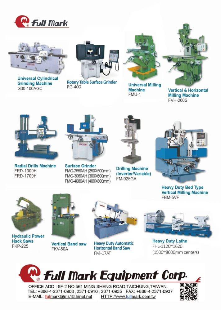 Taipei Int'l Machine Tool Show FULL MARK EQUIPMENT CORP.