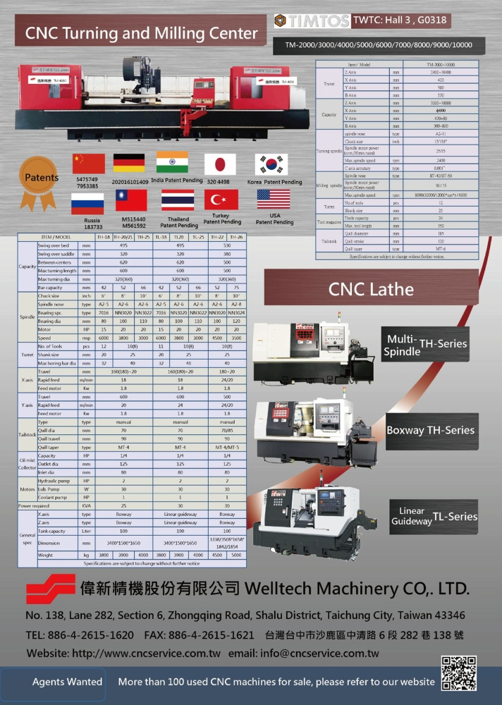 Taipei Int'l Machine Tool Show WELLTECH MACHINERY CO., LTD.
