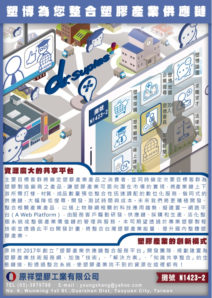 Taipei Int''l Plastic & Rubber Industry Show YOUNG SHANG PLASTIC INDUSTRY CO., LTD.