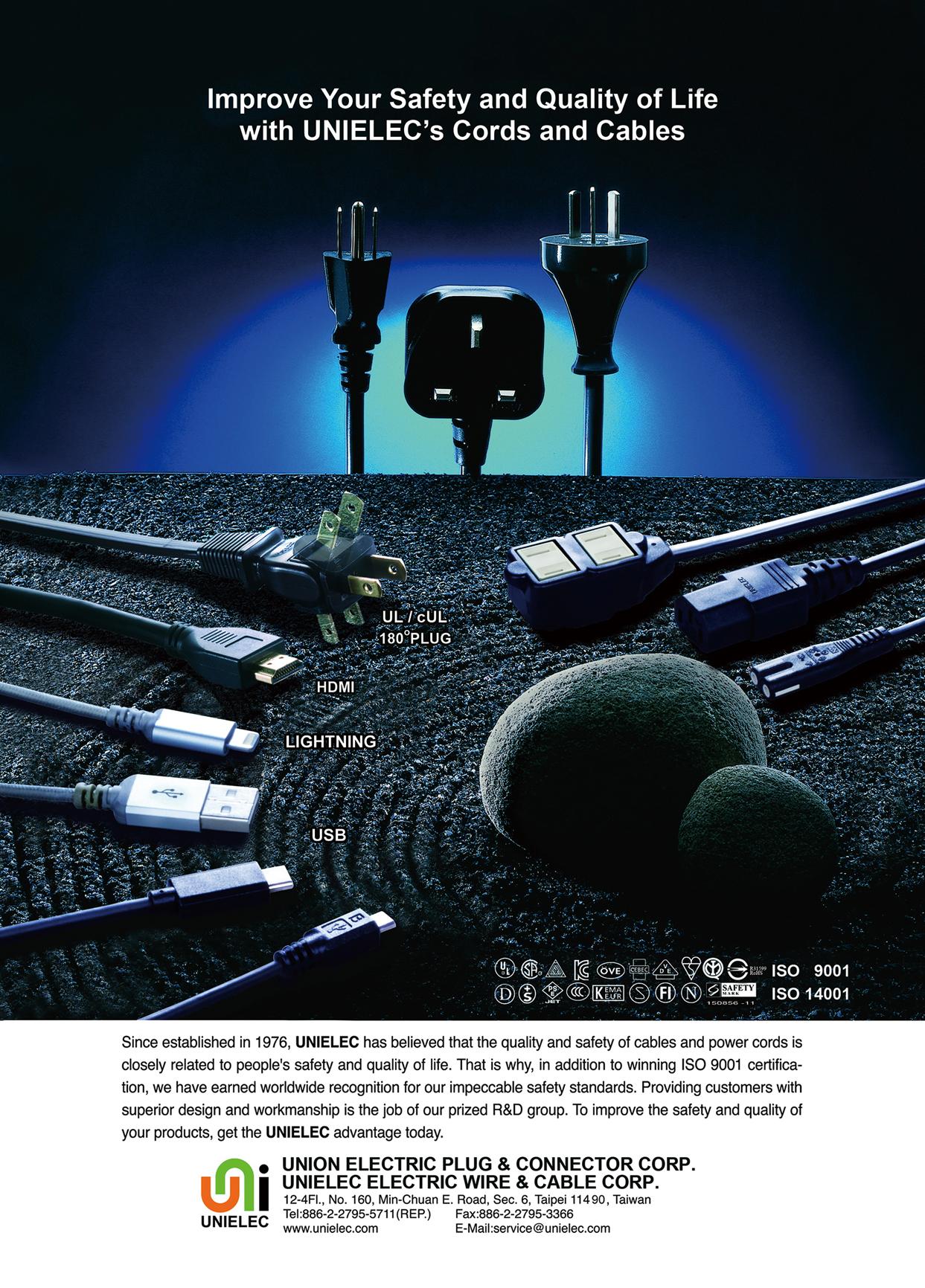 Taipei Int'l Electronics Show UNION ELECTRIC PLUG & CONNECTOR CORP.