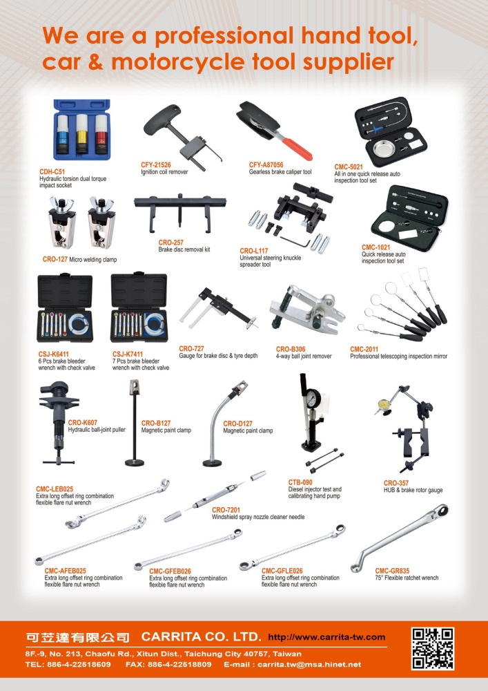 Taiwan Hand Tools CARRITA CO., LTD.