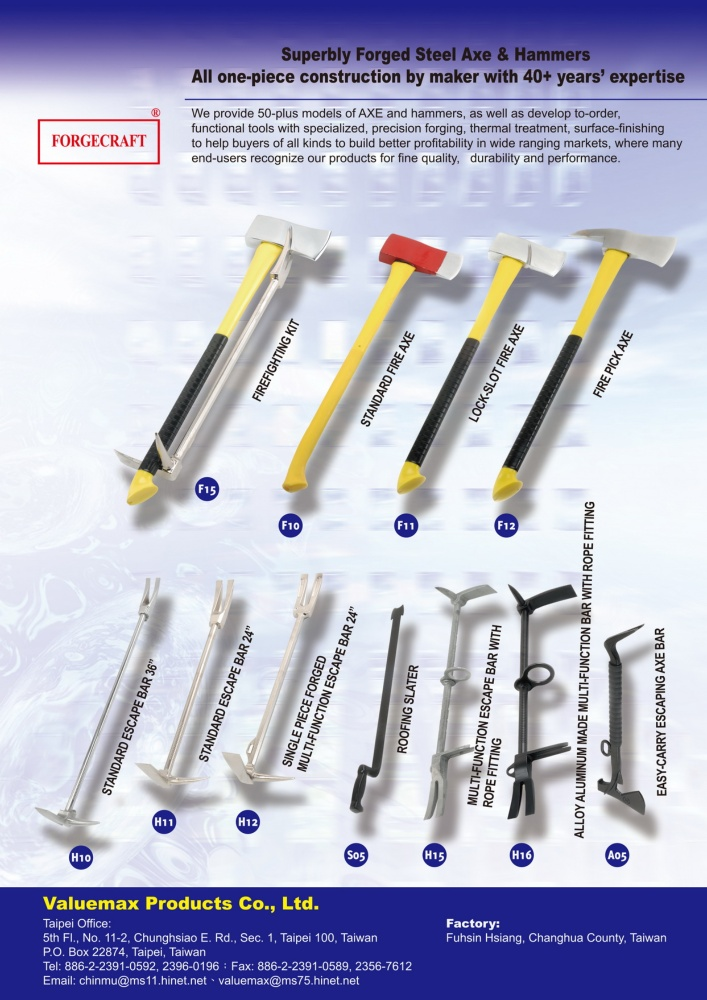 Guidebook to Taiwan Hand Tools VALUEMAX PRODUCTS CO., LTD.