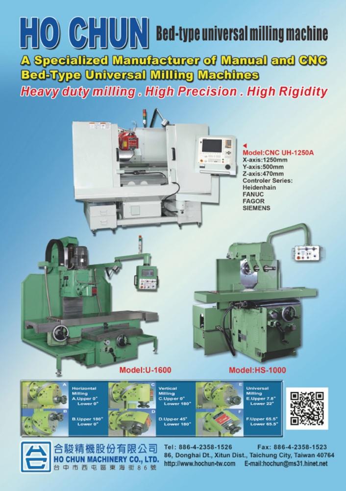 Taiwan Machinery HO CHUN MACHINERY CO., LTD.