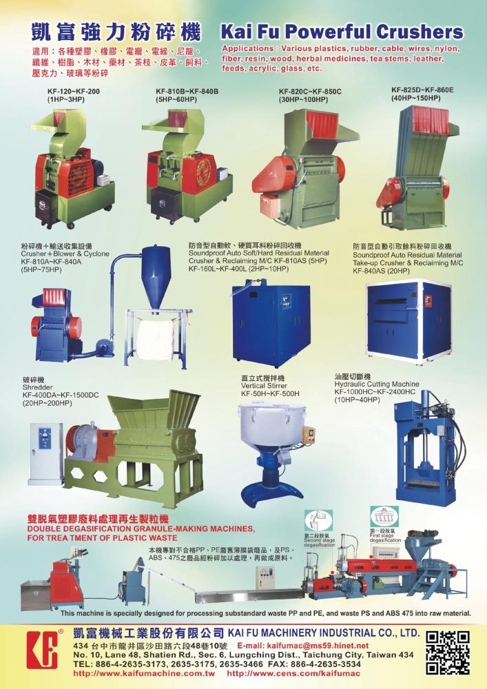 Taiwan Machinery KAI FU MACHINERY INDUSTRIAL CO., LTD.