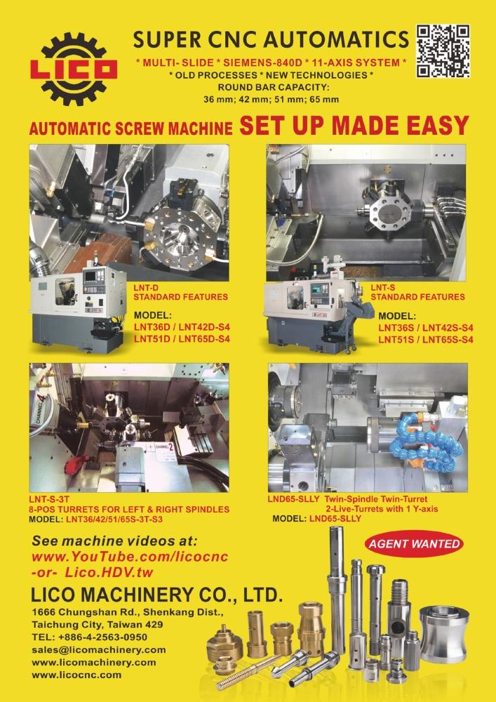 Taiwan Machinery LICO MACHINERY CO., LTD.