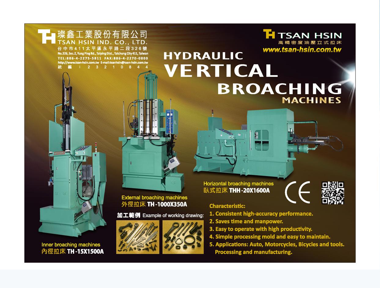 Taiwan Machinery TSAN HSIN IND. CO., LTD.