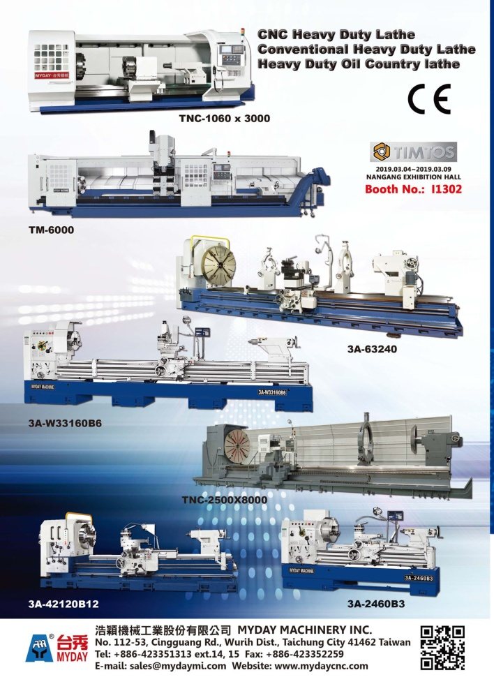 Taiwan Machinery MYDAY MACHINERY INC.