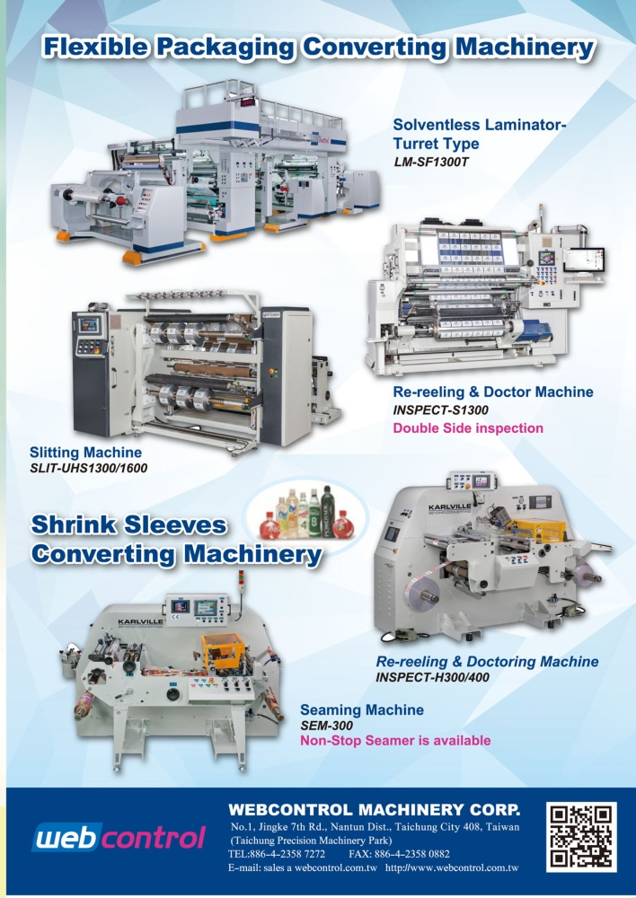 Taiwan Machinery WEBCONTROL MACHINERY CORP.