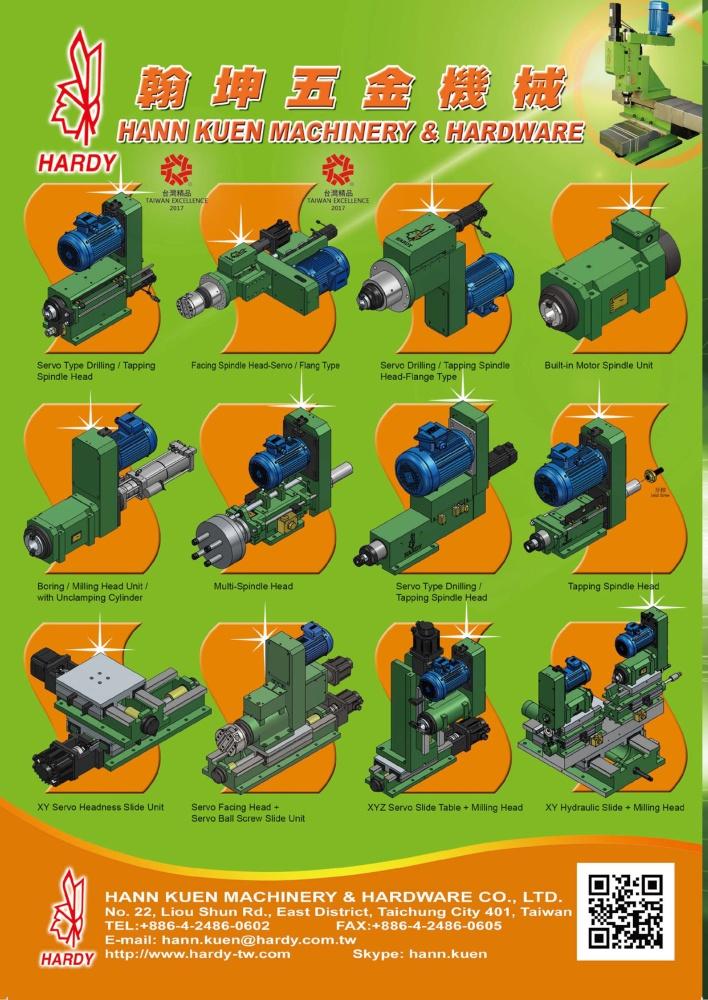 Taiwan Machinery HANN KUEN MACHINERY & HARDWARE CO., LTD.