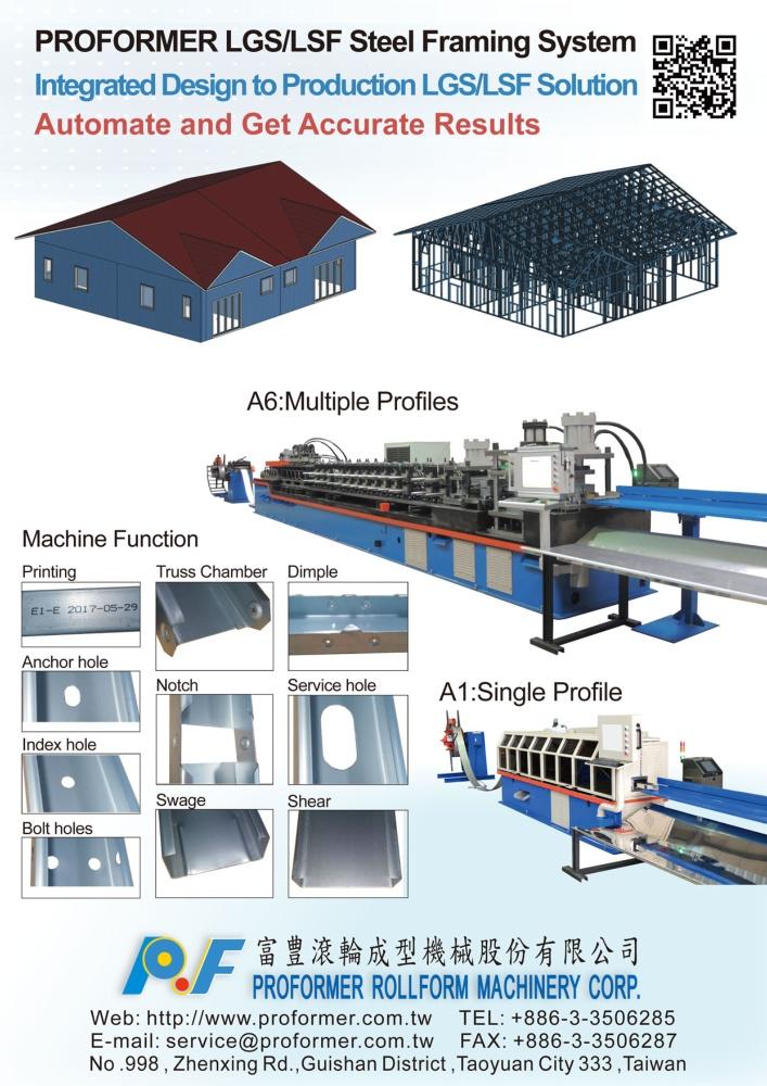 Taiwan Machinery PROFORMER ROLLFORM MACHINERY CORP.
