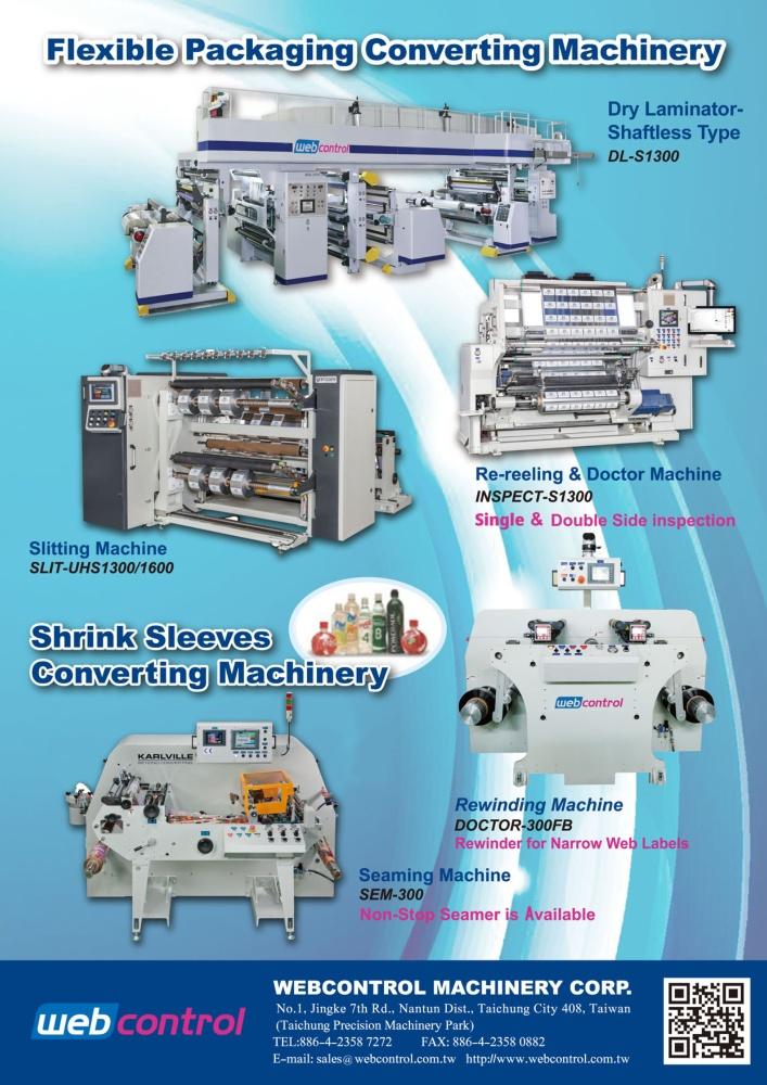 Taiwan Machinery WEBCONTROL MACHINERY CORP.