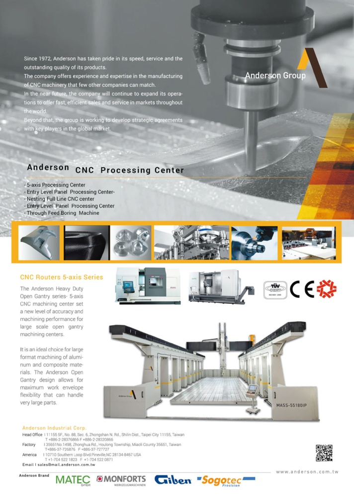 Who Makes Machinery in Taiwan ANDERSON INDUSTRIAL CORP.