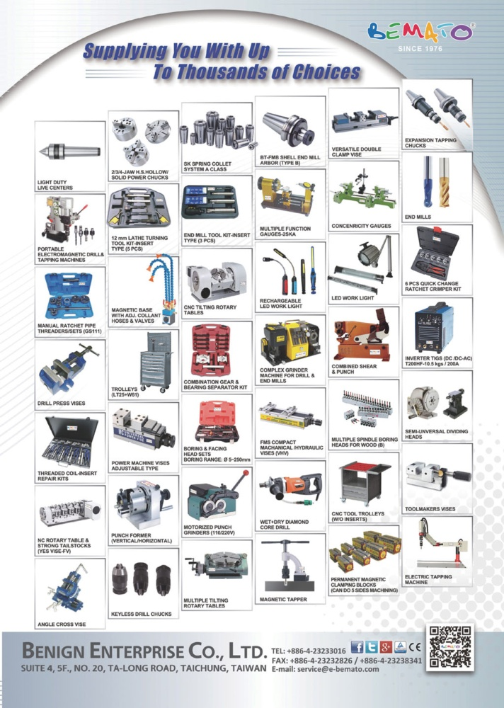 Who Makes Machinery in Taiwan BENIGN ENTERPRISE CO., LTD.