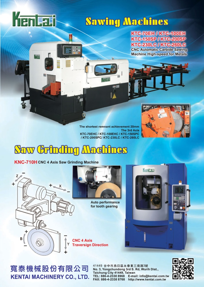 Who Makes Machinery in Taiwan KENTAI MACHINERY CO., LTD.