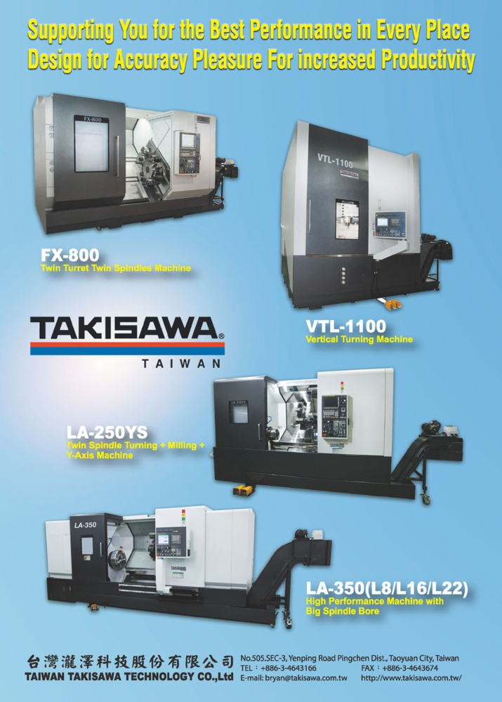 Who Makes Machinery in Taiwan TAIWAN TAKISAWA TECHNOLOGY CO., LTD.