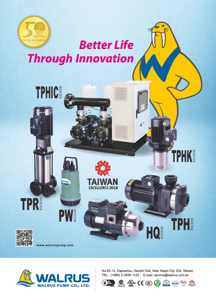 Who Makes Machinery in Taiwan WALRUS PUMP CO., LTD.