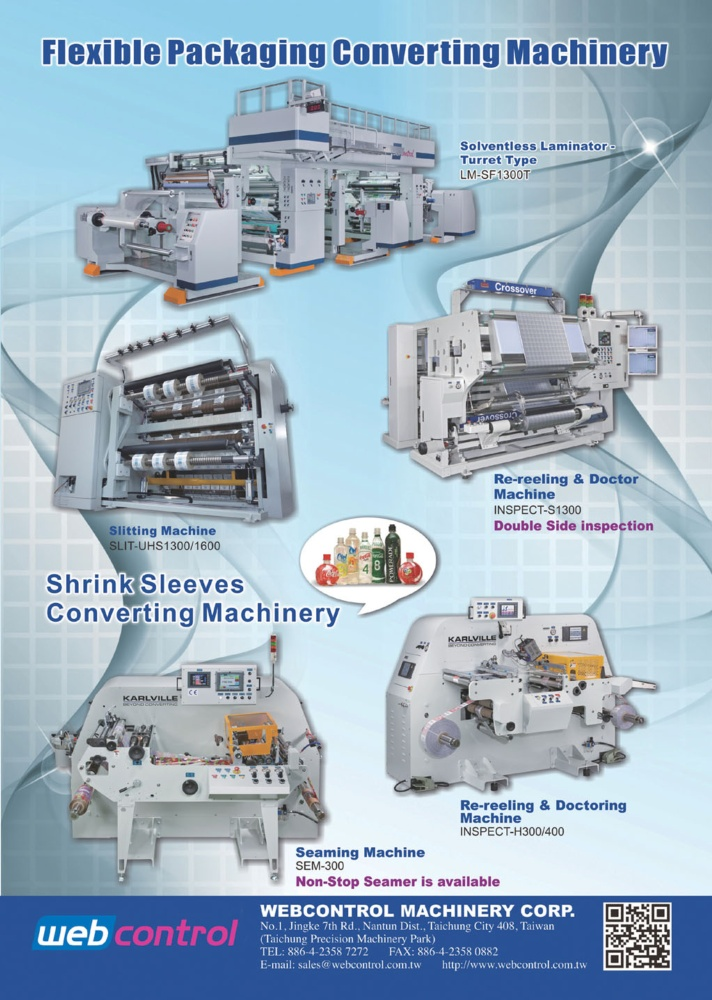 Who Makes Machinery in Taiwan WEBCONTROL MACHINERY CORP.
