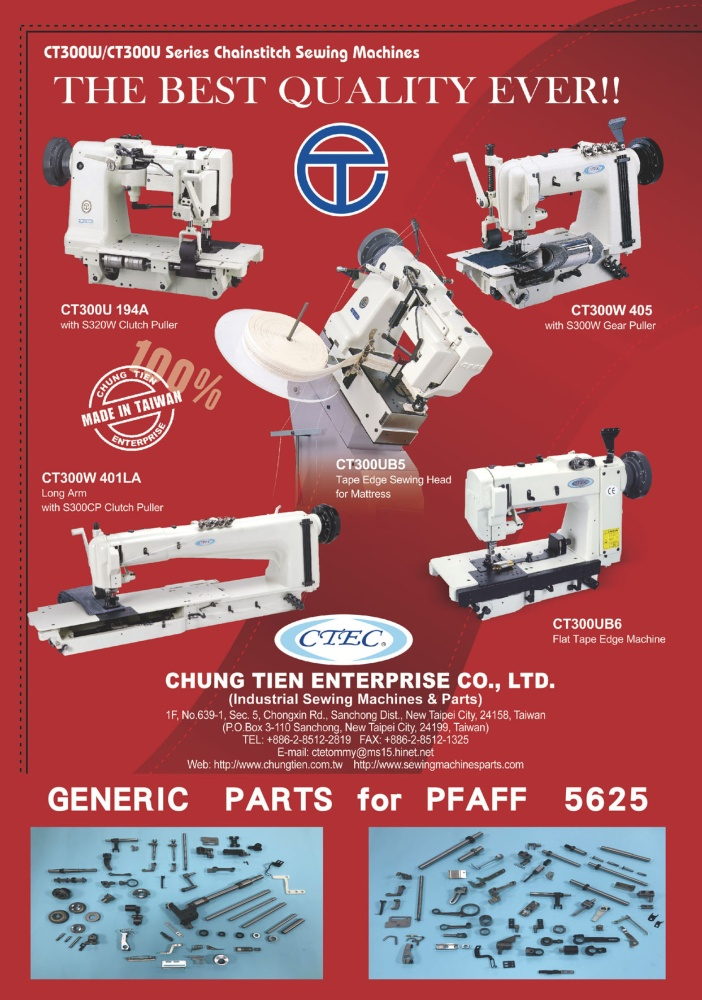 Who Makes Machinery in Taiwan CHUNG TIEN ENTERPRISE CO., LTD.