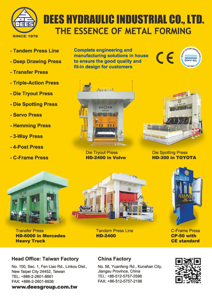Who Makes Machinery in Taiwan DEES HYDRAULIC INDUSTRIAL CO., LTD.
