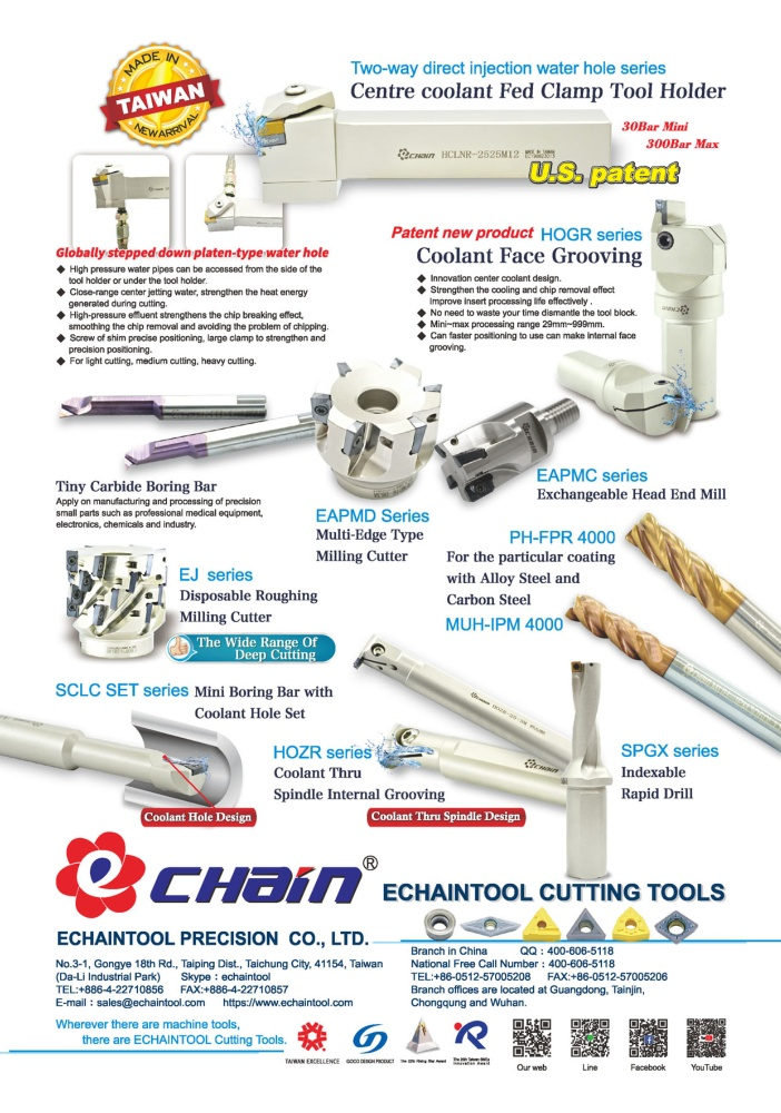 Who Makes Machinery in Taiwan ECHAINTOOL PRECISION CO., LTD.