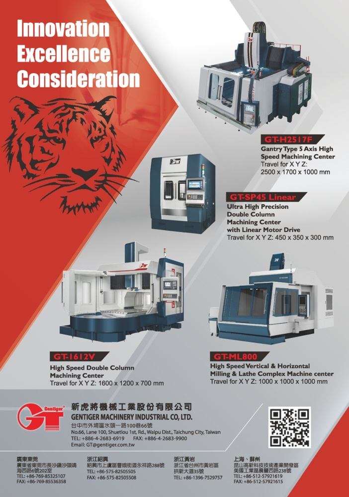 Who Makes Machinery in Taiwan GENTIGER MACHINERY INDUSTRIAL CO., LTD.