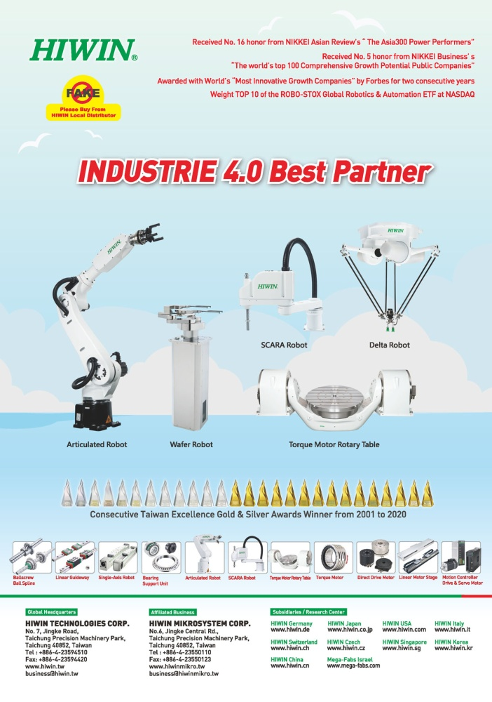 Who Makes Machinery in Taiwan HIWIN TECHNOLOGIES CORP.