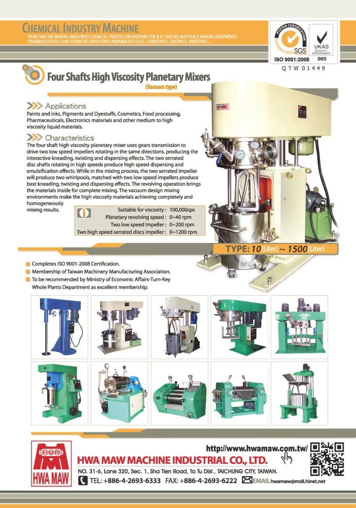 Who Makes Machinery in Taiwan HWA MAW MACHINE INDUSTRIAL CO., LTD.